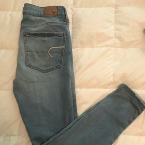 """super stretch/jegging"" jeans."
